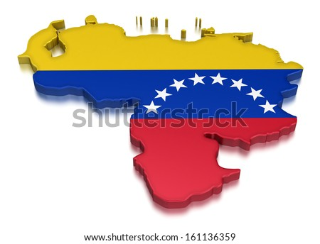 Venezuela (clipping path included) - stock photo