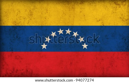 Venezuela flag background - stock photo