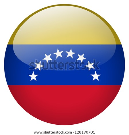 Venezuela flag button - stock photo