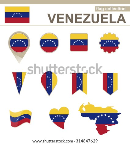 Venezuela Flag Collection, 12 versions, Rasterized Copy