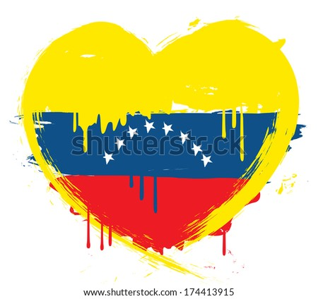 Venezuela grunge flag - stock photo