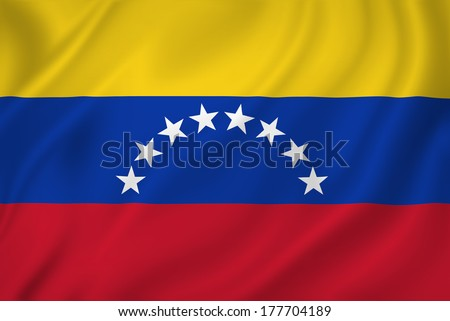 Venezuela national flag background texture. - stock photo