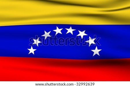 Venezuelan Flag - stock photo