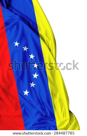 Venezuelan waving on white background