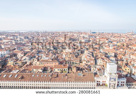 venice aerial view. concept about urban, city, travel and italy