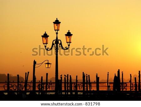 Venice at Sunrise - stock photo