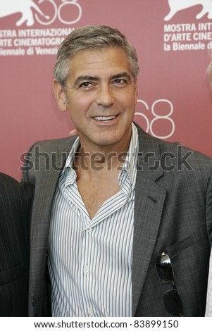VENICE - AUG 31: George Clooney at the 68th Venice International Film Festival in Venice,Italy on August 31, 2011. - stock photo