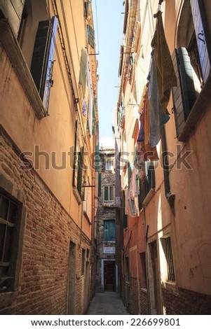 Venice back street - stock photo