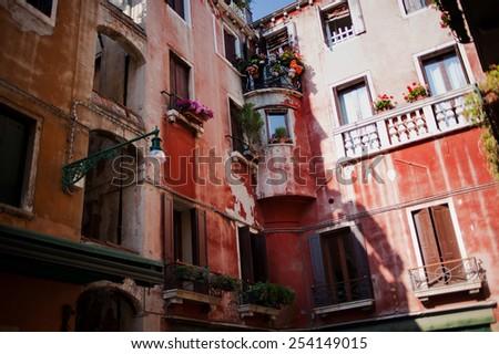 Venice, Balcony  - stock photo