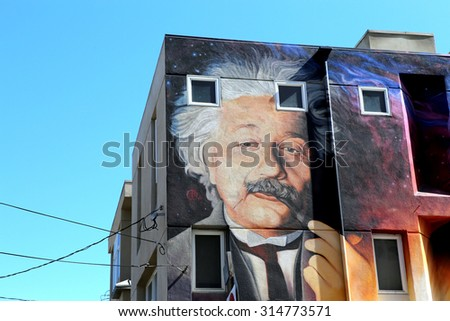 VENICE BEACH, UNITED STATES - APRIL 14, 2015 : view of painted walls in Venice beach, in Los angeles, california, united states