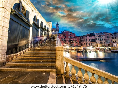 Venice by night. - stock photo