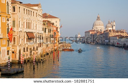 Venice - Canal grande in evening light from Ponte Accademia