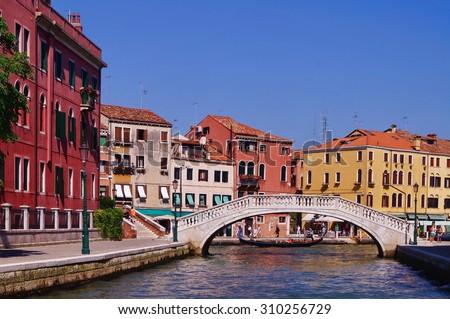 Venice canal, Italy - stock photo