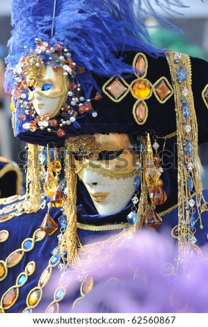 venice carnival mask - stock photo