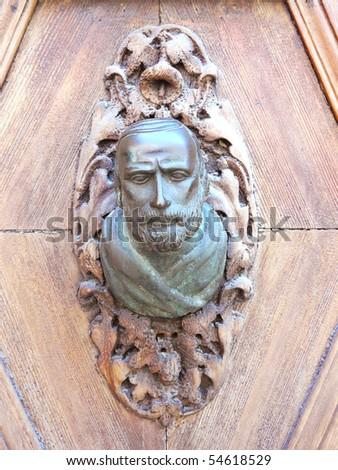 Venice doors, door handle - stock photo