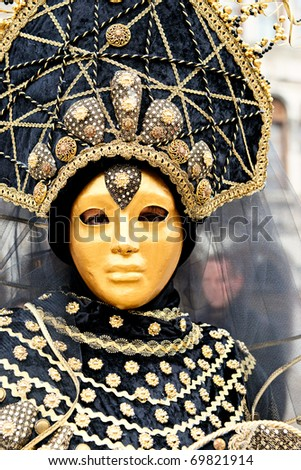 VENICE - FEBRUARY 24: Participant in The Carnival of Venice, an annual festival that starts around two weeks before Ash Wednesday and ends on Shrove Tuesday or Mardi Gras on February 24, 2009 in Venice, Italy.