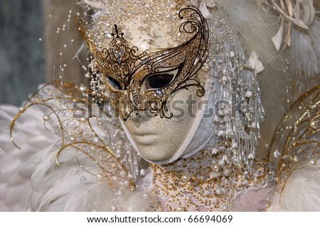 VENICE - FEBRUARY 17: The Carnival of Venice is an annual festival starting around two weeks before Ash Wednesday and ends on Shrove Tuesday or Mardi Gras in February 17, 2007 in Venice, Italy. - stock photo