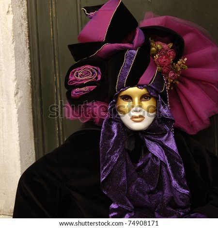 VENICE - FEBRUARY 17: The Carnival of Venice is an annual festival that starts around two weeks before Ash Wednesday and ends on Shrove Tuesday or Mardi Gras in February 17, 2007 in Venice, Italy. - stock photo