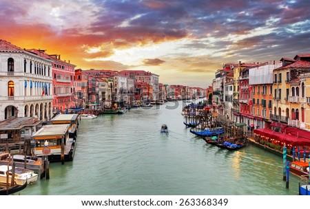 Venice - Grand Canal - stock photo