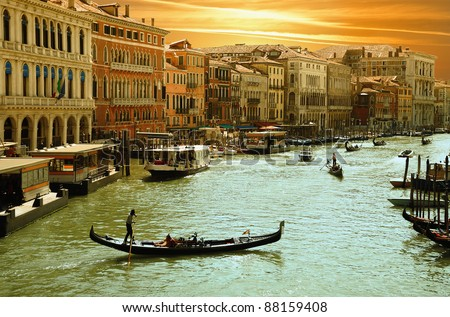 Venice -Grand Canal - stock photo