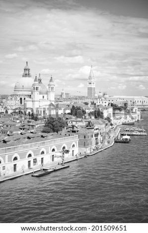 Venice in black and white, Venice, Italy - stock photo