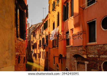 VENICE, ITALY - APR 18, 2013: Architecture of Venice, Italy. Popular touristic destination in Italy