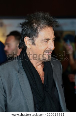 VENICE, ITALY - AUGUST 29: Actor Al Pacino attends the Mimmo Rotella Award during the 71st Venice Film Festival in August 29, 2014 in Venice, Italy