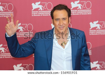VENICE, ITALY - AUGUST 30: Nicolas Cage at the 'Joe' Photocall during the 70th Venice International Film Festival on August 30, 2013 in Venice, Italy  - stock photo