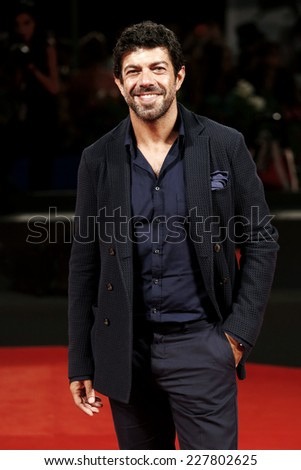 VENICE, ITALY - AUGUST 30: Pierfrancesco Favino attends 'The Humbling' premiere during the 71st Venice Film Festival on August 30, 2014 in Venice, Italy. - stock photo