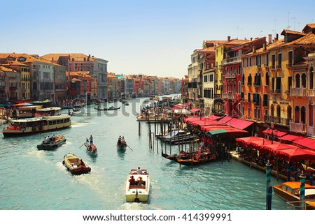 VENICE, ITALY,  AUGUST 1, 2014: Venice, view on the Grand Canal