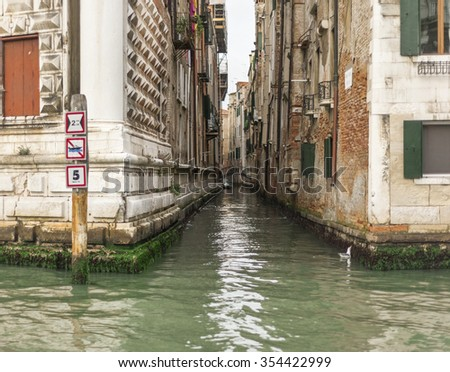VENICE,ITALY-CIRCA SEPTEMBER 2015: at the city channels