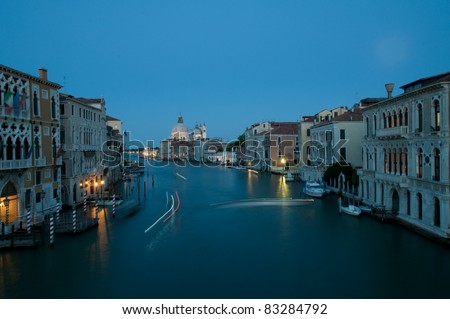 Venice, Italy - Evening time at Grand Canal - stock photo