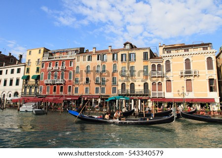 VENICE, ITALY - FEBRUARY 26, 2011:Grand canal and historic city of Venice on February 26, 2011 in Venice, Italy.