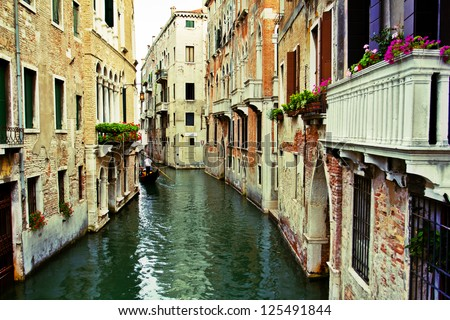 stock photo venice italy grand canal and historic tenements 125491844 - Каталог — Фотообои «Венеция»