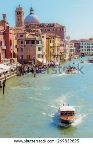VENICE, ITALY - 26 JUNE, 2014: Grand Canal in Venice Italy - stock photo