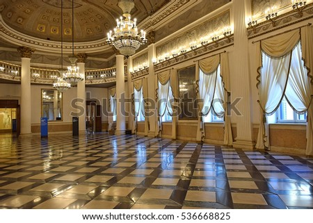 VENICE, ITALY - 11 OCTOBER 2016: ballroom in the Museum Correr of Venice October 11 2016 located in St. Mark's Square on the upper floors of the Procuratorie Nuove