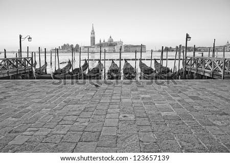 Venice, Italy:  Saint Mark waterfront - stock photo