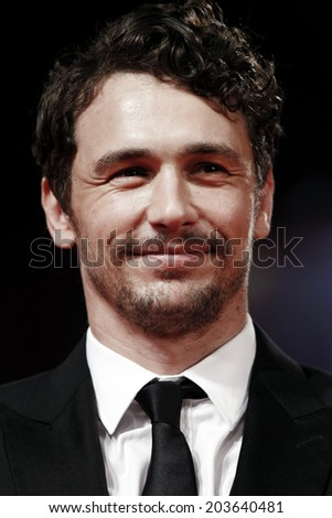 VENICE, ITALY - SEPTEMBER 05: Actor James Franco attends 'Spring Breakers' Premiere during the 69th Venice Film Festival on September 5, 2012 in Venice, Italy. - stock photo