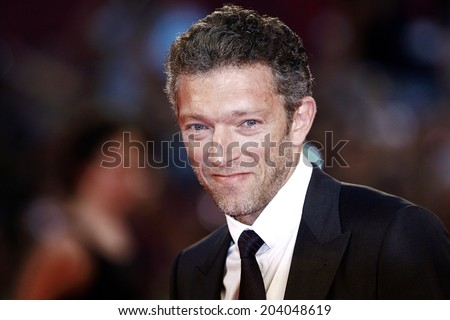 VENICE, ITALY - SEPTEMBER 02: Actor Vincent Cassel attends the premiere of 'A Dangerous Method' during the 68th Venice Film Festival on September 2, 2011 in Venice, Italy. - stock photo