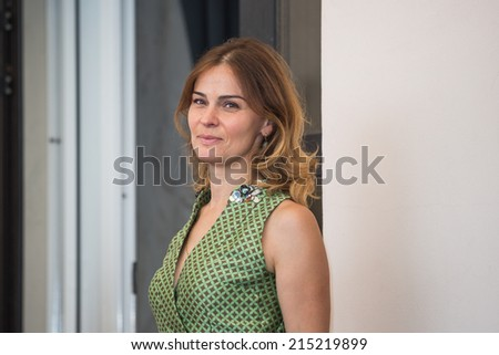 VENICE, ITALY - SEPTEMBER 05: Actress Nino Kasradze attends the 'Line Of Credit' Photocall during 71st Venice Film Festival the on September 5, 2014 in Venice, Italy.