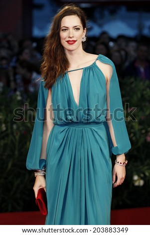 VENICE, ITALY - SEPTEMBER 08: Actress Rebecca Hall attends 'The Town' premiere during the 67th Venice Film Festival on September 8, 2010 in Venice, Italy. - stock photo