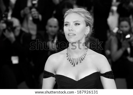 VENICE, ITALY - SEPTEMBER 03: Actress Scarlett Johansson as she attends the 'Under The Skin' Premiere during the 70th Venice International Film Festival on September 3, 2013 in Venice, Italy. - stock photo