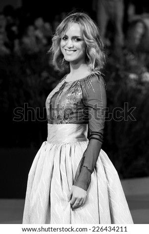 VENICE, ITALY - SEPTEMBER 04: Actress Tatiana Luter attends 'Pasolini' Premiere during the 71st Venice Film Festival on September 4, 2014 in Venice, Italy. - stock photo