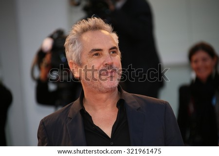 Venice, Italy - 10 September 2015:  Alfonso Cuaron attends a premiere for 'Remember' during the 72nd Venice Film Festival - stock photo