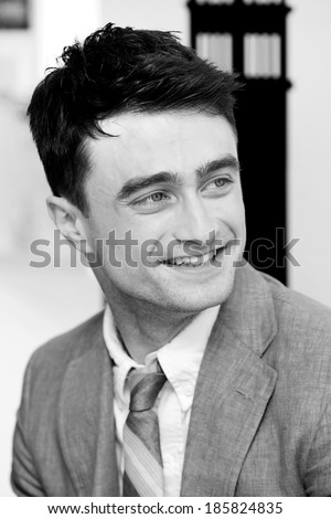 VENICE, ITALY - SEPTEMBER 02: British actor Daniel Radcliffe meets the fans during the 70th Venice Film Festival in Disaronno Lounge on September 2nd, 2013.  - stock photo