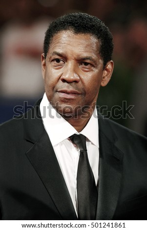 VENICE, ITALY - SEPTEMBER 10:  Denzel Washington attends the premiere of 'The Magnificent Seven' during the 73rd Venice Film Festival on September 10, 2016 in Venice, Italy.
