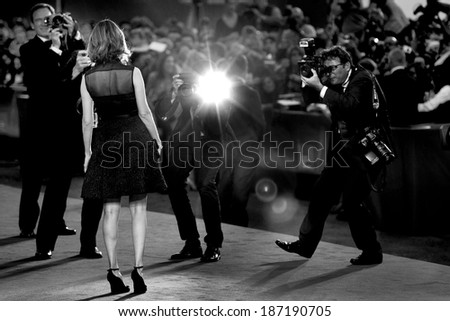 VENICE, ITALY - SEPTEMBER 03: Director Sofia Coppola attends the 'Somewhere' premiere during the 67th Venice Film Festival on September 3, 2010 in Venice, Italy. - stock photo