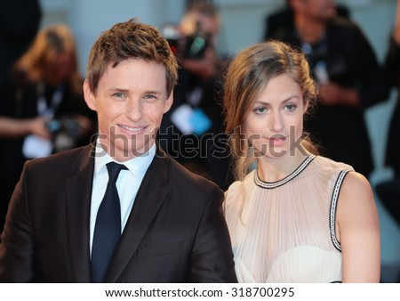 VENICE, ITALY - SEPTEMBER 05: Eddie Redmayne and Hannah Bagshawe during the 72th Venice Film Festival 2015 in Venice, Italy - stock photo