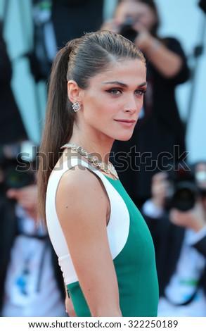 VENICE, ITALY - SEPTEMBER 12:  Elisa Sednaoui during the 72th Venice Film Festival 2015 in Venice, Italy - stock photo