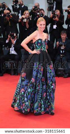 VENICE, ITALY - SEPTEMBER 04: Elizabeth Banks during the 72th Venice Film Festival 2015 in Venice, Italy - stock photo